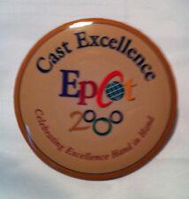 Disney Cast Excellence Epcot 2000 Button