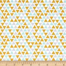 Massive remanente FREESPIRIT triángulos 100% Tela De Algodón-maíz-Aprox 114cmx1.2M