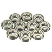 8mm Roller Skate Bearings - Silver Chrome Steel ABEC 7 Pack of 16