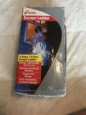 Kiddie Fire Escape Ladder 2 Story with Anti Slip Rungs 13 Foot Tangle Free - Nib