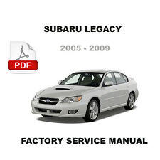 2005 2006 2007 2008 2009 SUBARU LEGACY FACTORY SERVICE REPAIR WORKSHOP MANUAL