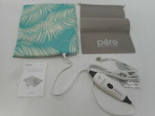 """Pure Enrichment Electric Heating Pad with 4 Heat Settings, Palm Aqua, 12"""" x 15"""""""