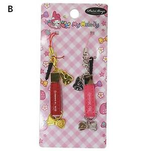 My Melody Pair strap Set of 2 Ribbon type Gold:Red/Silver: Pink Charm Mascot
