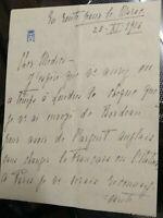 1916 275) AUTOGRAFO DELLA DUCHESSA D'AOSTA ELENA D'ORLEANS IN VIAGGIO IN MAROCCO