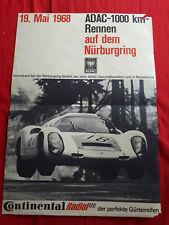 POSTER AFFICHE ORIGINALE 1000 km Nurburgring 1968
