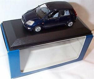 Ford Fiesta MK5 5 Door Dark Blue 1-43 Sclae Minichamps New in case Boxed