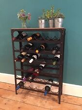 Wine Rack holds 36 bottles, Aged Rust colour