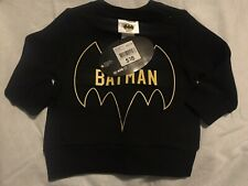BATMAN DC comics Black Jumper Size 00*BNWT. 10 Items = $5 Post