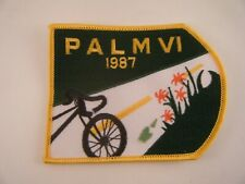 Vintage Patch PALM VI 1987 Michigan Cycling Bicycle Road Flowers Race