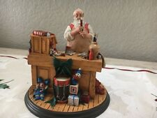 "Danbury Mint The Rockwell Heirloom Rare ""Santa'S Workshop"" Figurine 1St Le 1990"