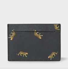 Paul Smith Wallet - Men's Black 'leopard' Print Saffiano Leather Credit RRP:£95