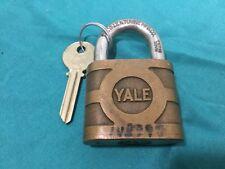 Antique Yale & Towne Padlock w/ Key Blank - 102266 - Locksmith