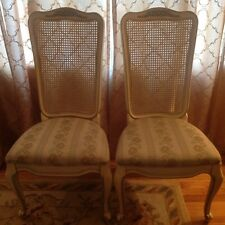 White Furniture Co. French Provincial Louis XVI Hickory Wood & Fabric (4) Chairs