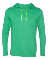 Anvil Men's Lightweight Long-Sleeve Hooded T-Shirt 987AN S-3XL