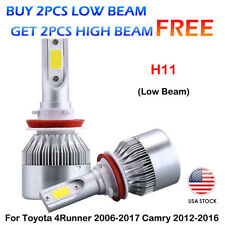 CREE COB H11 LED Headlight Kit Bulb For Toyota 4Runner 2006-2017 Camry 2012-2016