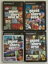 Vintage Ps2 Grand Theft Auto Lot of 4 Video Games Euc Vice City Stories