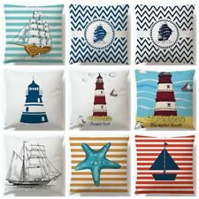Voyager Boats Lighthouse Cotton Line Cushion Covers Pillow Cover Decorative Sofa
