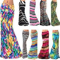 Tie Dye vintage Boho Women's Print High Waist Long Dress Beach Party Maxi Skirts
