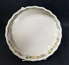 """Wedgewood Quince China Quiche Plate Dish 8-5/8"""" Oven to Table England Fruit"""