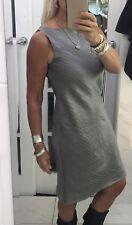 Anne Klein Dress Designer Silver Linen Blend Fit Size 10 Work Office Church Exec