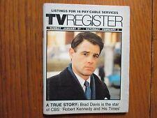 Jan. 27, 1985 Santa Ana, Ca. Register TV Magazine(BRAD  DAVIS/ROBERT F. KENNEDY)