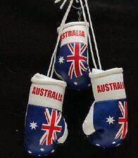 MINI BOXING GLOVES  FLAG OF AUSTRALIA PLUS AUSTRALIAN KEY RING - HANG IN CAR