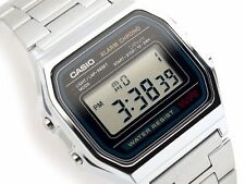 Retro Digital Unisex Casio Watch A-158W Original Factory New Digital A158 Silver