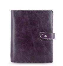 Filofax A5 Size Malden Organiser Planner Diary Purple Leather - 025851