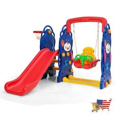 Baby Toys Toddler Climber And Swing Playset Multifunctional Swing Set 3 In 1