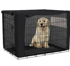 """Dog Cover for Wire Crates Durable Polyester Windproof Pet Black 36"""" Medium"""