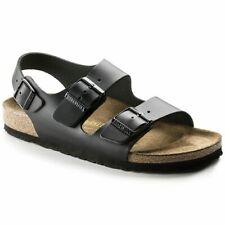 Birkenstock MILANO Sandals Heel-strap Black Leather