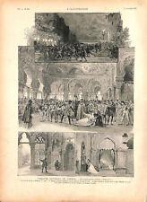 Otello opéra de Giuseppe Verdi de Shakespeare Opéra Garnier Paris GRAVURE 1894