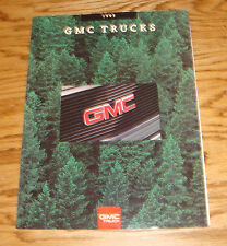 Original 1993 GMC Truck Full Line Foldout Sales Brochure 93 Jimmy Sierra Sonoma