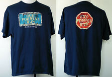 "Bubba Gump Shrimp Co. ""Run Forrest Run"" Charleston, SC Blue Souvenir T-Shirt XXL"