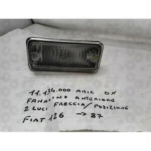 Fanale freccia anteriore dx bianco per Fiat 126 fino al 1987