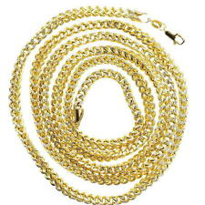 """FRANCO 10KT YELLOW HOLLOW GOLD 30""""LONG,4MM, MENS CHAIN GOLD WT IS APP 28.50GMS"""