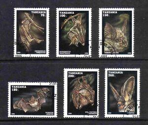 Tanzania 1995 Bats short set of 6 values used