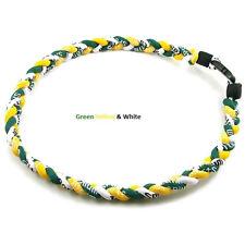 "Titanium Ionic Sports Baseball Necklace 20"" 3-rope Tornado Braid"
