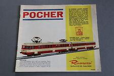 X412 POCHER Train catalogueHo 16 pages 19,5*22 cm F wagon voiture maquette