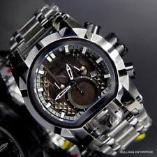 Invicta Reserve Bolt Zeus Magnum Swiss Steel Black Dual Dials 52mm Watch New