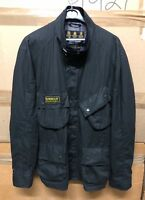GENUINE BARBOUR A547 FLYWEIGHT WAX JACKET BELTED BLACK EX COND !!!! XX-LARGE