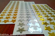 156 Gold Silver & Bronze Star Stickers Set for rewards office use etc