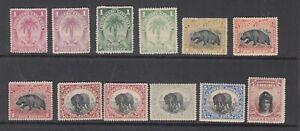 Liberia # 54-63 + 54a 60a COLORS MINT1897-1905 Fauna Elephant Hippo