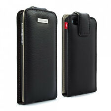 Proporta Leather Aluminium Lining Case for Apple iPhone 5 5s Cover - Black