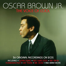 Oscar Brown Jr THE VOICE OF COOL Best Of 36 Essential Songs COLLECTION New 2 CD