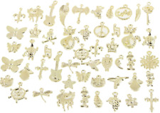 Wholesale Bulk Lots Charms for Jewelry Making, 50Pcs Mixed Charms, Tibetan Gold