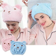 Absorbent Elastic Band Dry Hair Shower Towel Wrapped Turban Animal Hats UK Cap