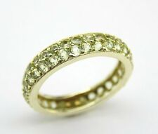 14 KT YELLOW GOLD LADIES 1.80 CT PERIDOT  BAND 3.50 MM WIDE
