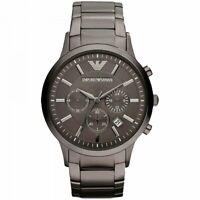 Emporio Armani AR2454  Metal Grey Stainless Chronograph Men's Watch