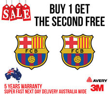 "2x BARCELONA F.C sticker.""LA LIGA"" one of the best team in the world 110mm high"